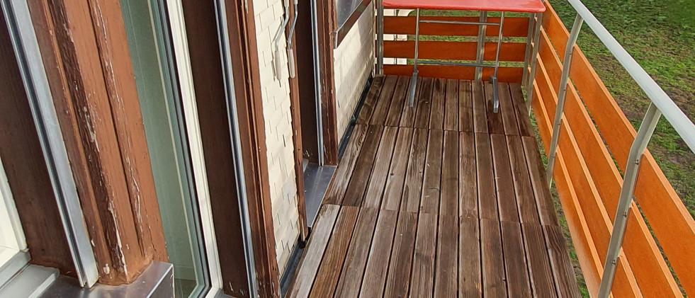 grosser Balkon beider Schlafzimmer