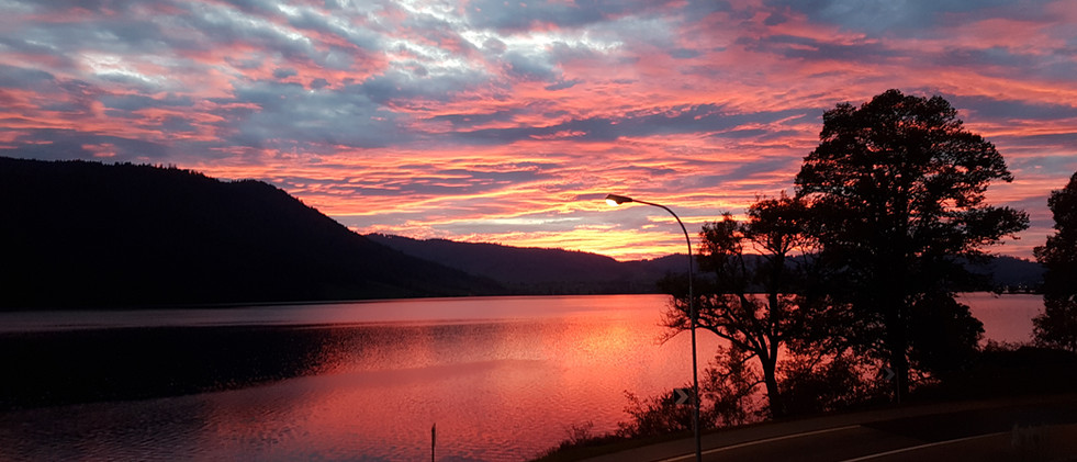 Sonnenuntergang vom Balkon Sommer