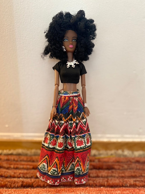 Barbie cheveux afro