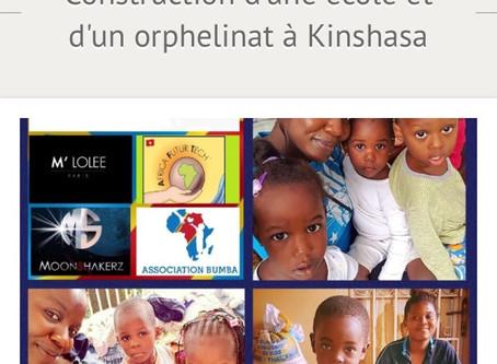 CAGNOTTE : Récolte de fonds afin de construire une école et un orphelinat à Kinshasa
