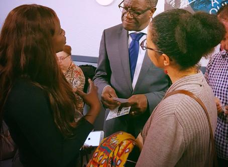Première rencontre avec le Dr Mukwege, c'était tout simplement merveilleux de serrer la main de l'ho