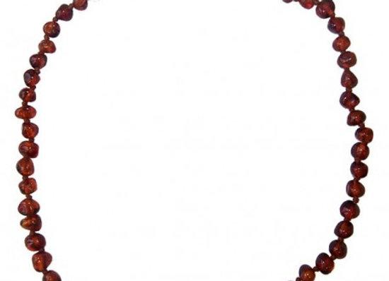 Collier d'ambre - Baroque Cognac -Ambre véritable de la Mer baltique - Popolini