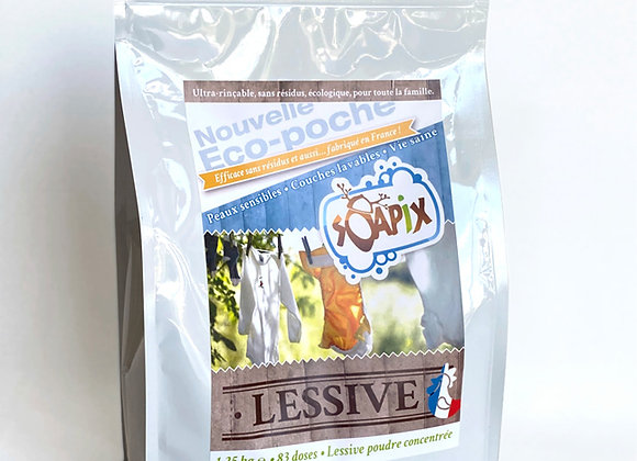 Lessive en poudre Eco-poche - 80 doses - Soapix