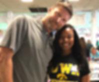 Chris with IA Hawkeye Fan.JPG