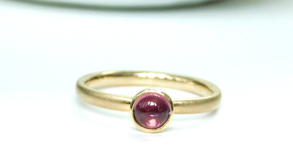 """Annika"" Ring aus Gelbgold 750/- mit rosa Turmalin"