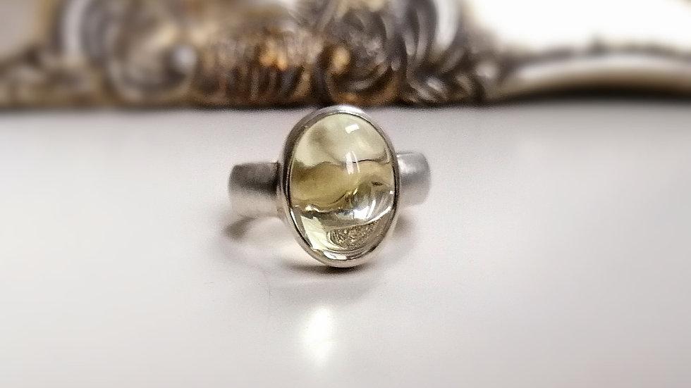 "Ring ""Limone"" Silber mit Lemon Citrin"