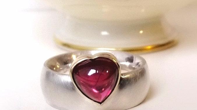 "Ring ""Venus"" Silber  Rhodolith"