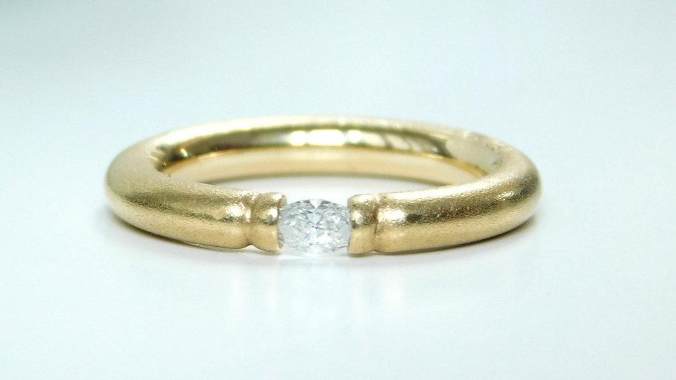 """""""Caterina"""" Ring aus Gelbgold 750/- mit Diamant"""