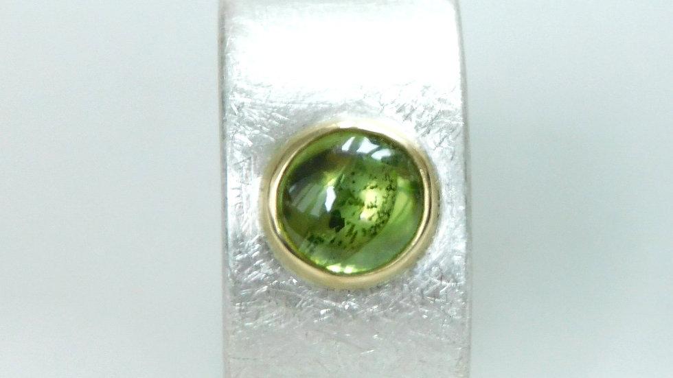 """""""Sole"""" Ring aus Silber 925/- mit Olivin"""