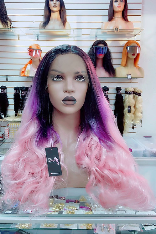 """ZARA~Front Lace Wig 32"""" Long Front Lace Wigs Pre-Tinted Custom Lace Front Wig He"""