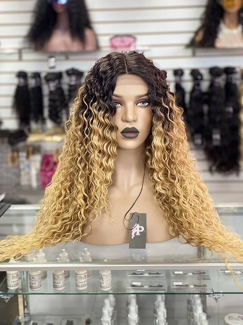 """GODDESS  ~ Front Lace Wig 28"""" Long Front Lace Wigs Pre-Tinted Custom Lace Front"""