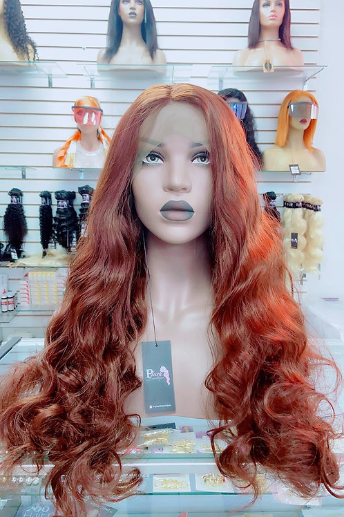 """LACY~Front Lace Wig 28"""" Long Lace Wigs Pre-Tinted Custom Lace Front Wig Heat OK"""