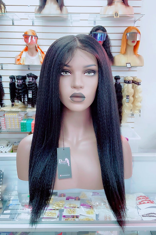 """NAOMIE~Front Lace Wig 26"""" Long Front Lace Wigs Pre-Tinted Custom Lace Front Wig"""