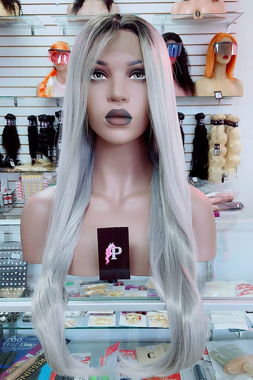 "OLIVIA ~ Front Lace Wig 30"" Long Front Lace Wigs Pre-Tinted Custom Lace Front Wi"