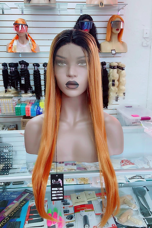 """AMBER~ Front Lace Wig 30"""" Long Front Lace Wigs Pre-Tinted Custom Lace Front Wig"""