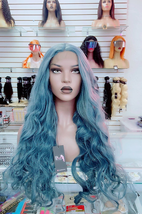 """TRINA~ Front Lace Wig 32"""" Long Front Lace Wigs Pre-Tinted Custom Lace Front Wig"""