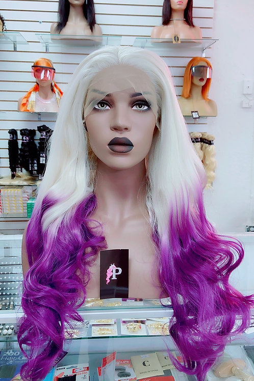"""SADIE~Front Lace Wig 32""""Long Front Lace Wigs Pre-Tinted Custom Lace Front Wig He"""