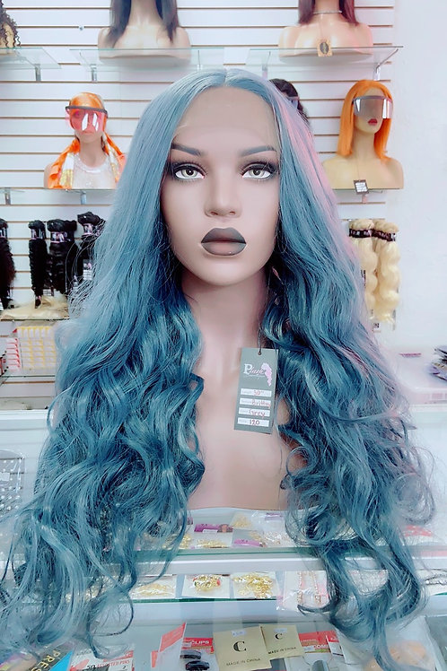 """BRITTNY ~ Front Lace Wig 32"""" Long Front Lace Wigs Pre-Tinted Custom Lace Front"""