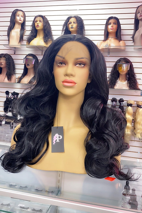 """KARMA  ~ Front Lace Wig 30"""" Long Front Lace Wigs Pre-Tinted Custom Lace Front Wi"""