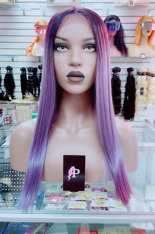 """AMETHYST  ~ Front Lace Wig 24"""" Long Front Lace Wigs Pre-Tinted Custom Lace Front"""