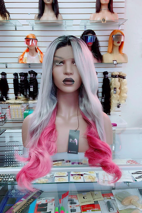 """SHY~Front Lace Wig 32""""Long Front Lace Wigs Pre-Tinted Custom Lace Front Wig Heat"""
