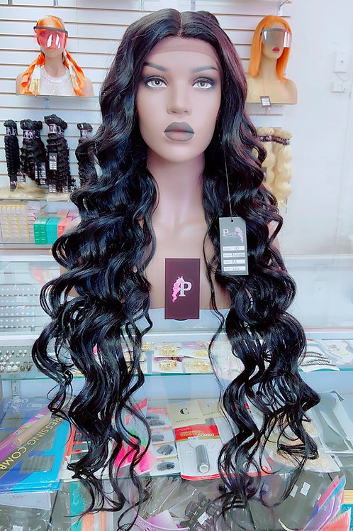 "NATASHA  ~ Front Lace Wig 22"" Long Front Lace Wigs Pre-Tinted Custom Lace Front"