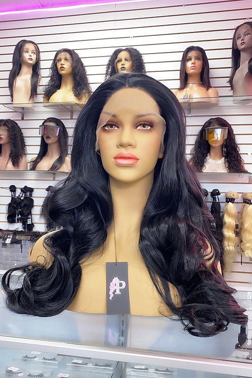 "ARMANIE  ~ Front Lace Wig 30"" Long Front Lace Wigs Pre-Tinted Custom Lace Front"
