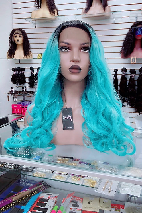 """MYA~ Front Lace Wig 32"""" Long Front Lace Wigs Pre-Tinted Custom Lace Front Wig He"""