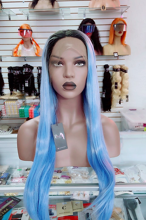 """SERENITY~ Front Lace Wig 34""""Long Front Lace Wigs Pre-Tinted Custom Lace Front Wi"""