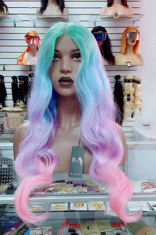 "FAIRIE~Front Lace Wig 32"" Long Front Lace Wigs Pre-Tinted Custom Lace Front Wig"