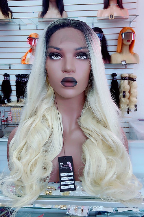 "KIARA  ~ Front Lace Wig 32"" Long Front Lace Wigs Pre-Tinted Custom Lace Front Wi"