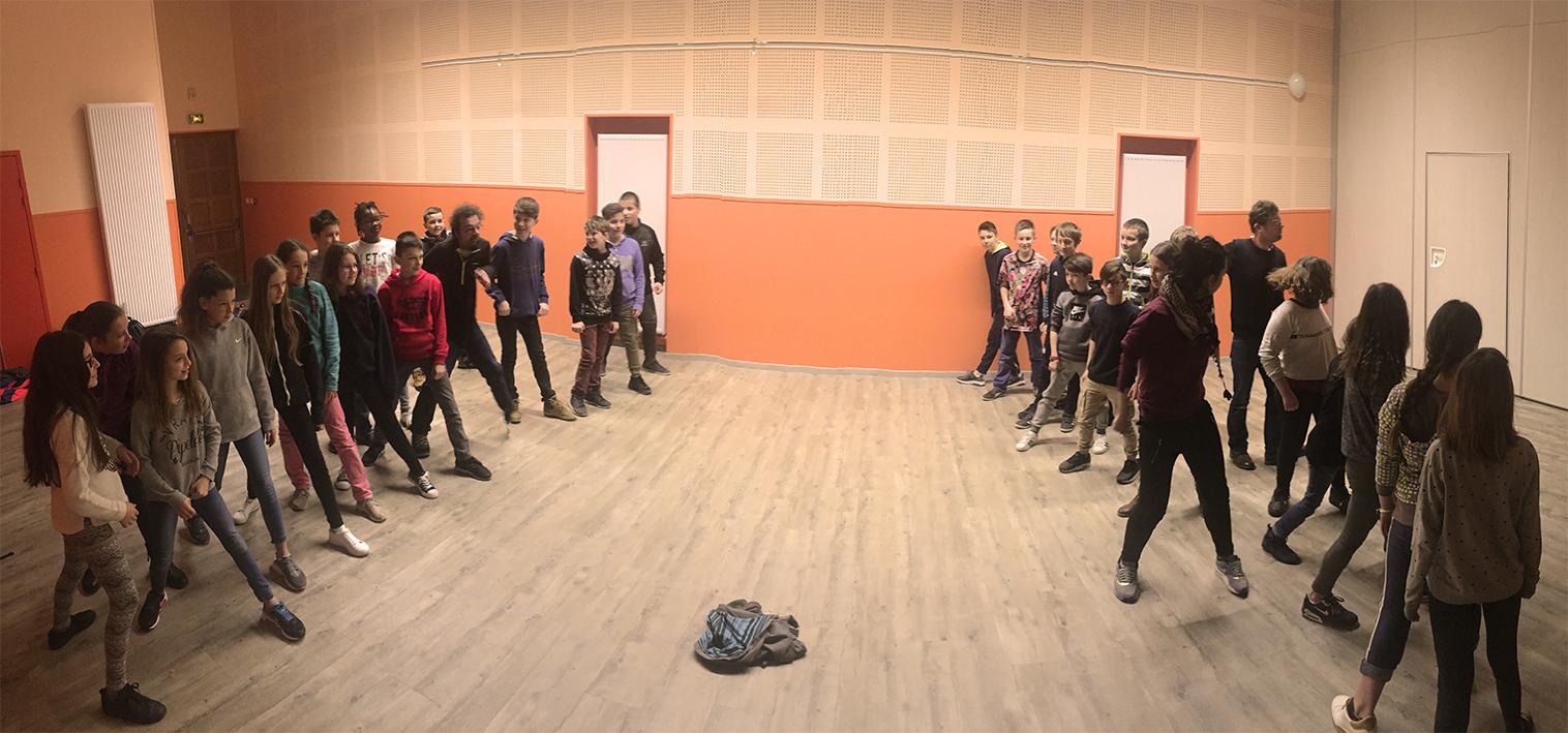 Atelier Théâtre avec collégiens