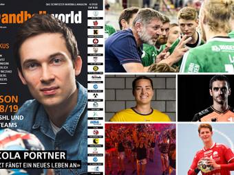 Jetzt bestellen und am Ball sein:  Das Handballworld Magazin 4/18