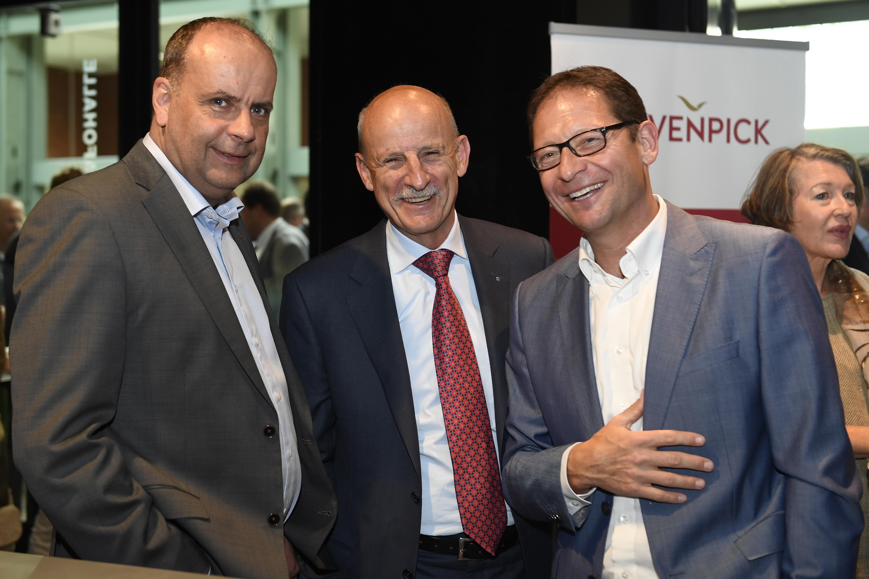 Praesident Giorgio Behr (Mitte) mit