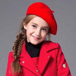 Ni-os-boina-invierno-lindo-negro-rojo-la
