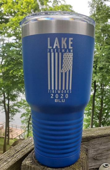 32oz. Lake Freeman Fireworks Insulated Cups