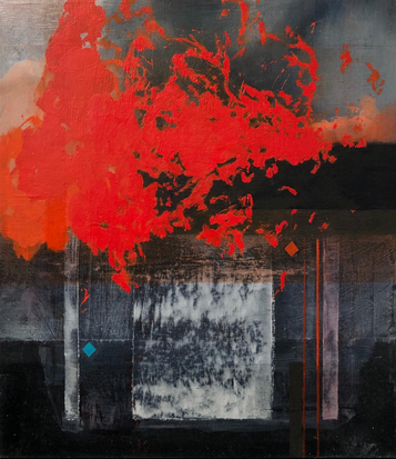 Blood-Shod 2019 Oil on canvas 28 x 32 cm