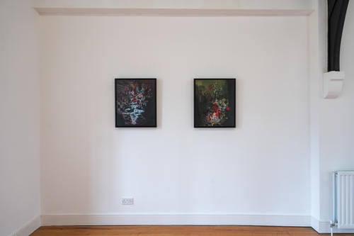 'Blood Blooms,' and 'Black Sweet' 2021 St Augustine's, Derry. Photograph by Paola Bernardelli