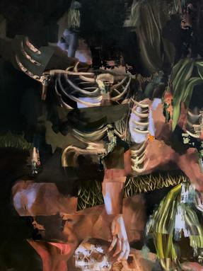 Detail of Black Tarn 2021 Oil on canvas 165 x 190 cm