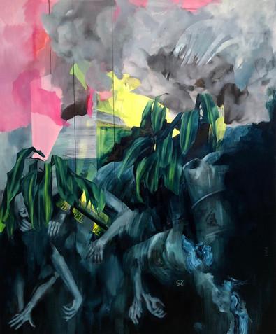 Bhopal 2019 Oil on canvas 168 x 200 cm