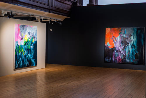 'Bhopal,' and 'Tuam' Installation photograph, The Glassworks Derry. Photograph by John Deery