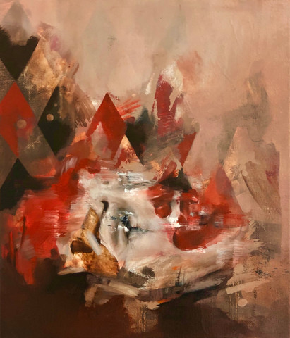 Slip 2020 Oil on canvas 30 x 35 cm