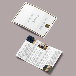 Tent Card, front & back