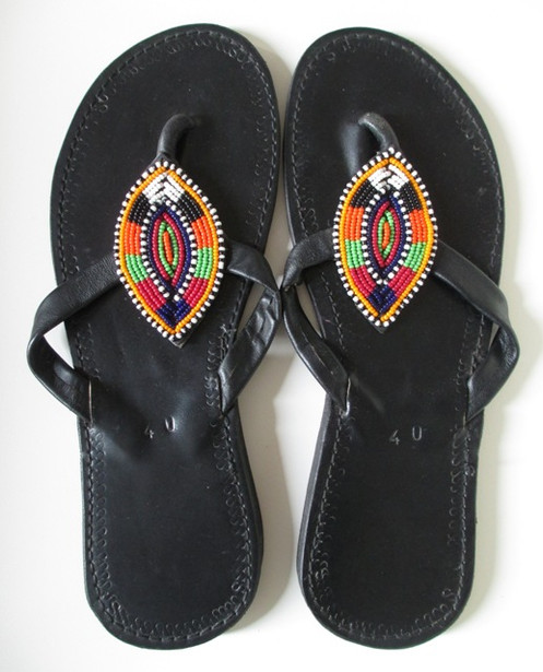 Leather Beaded African Beaded Leather Beaded Sandals Sandals African African Sandals Leather CdrBexo