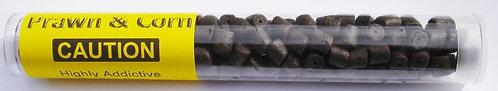 Prawn & Corn Extreme Pellets Bait Tube - Pre Drilled Hook Pellets 8mm