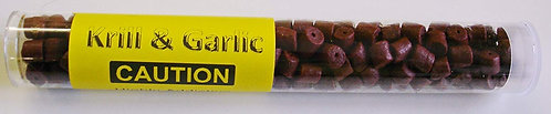 Krill & Garlic Extreme Pellets Bait Tube - Pre Drilled Hook Pellets 8mm