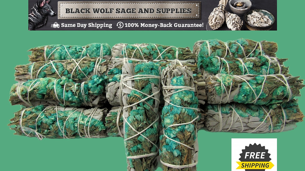 White Sage Turquoise Statice Sage