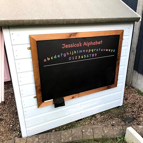 Personalised Kids Alphabet Large Chalkboard