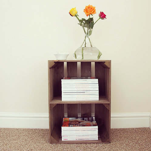Large Rustic Crate with Shelf (Portrait)