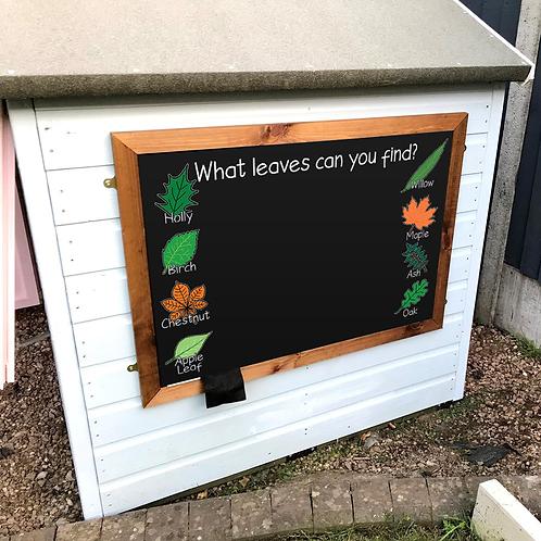 Large Kids Chalkboard - Garden Leaves